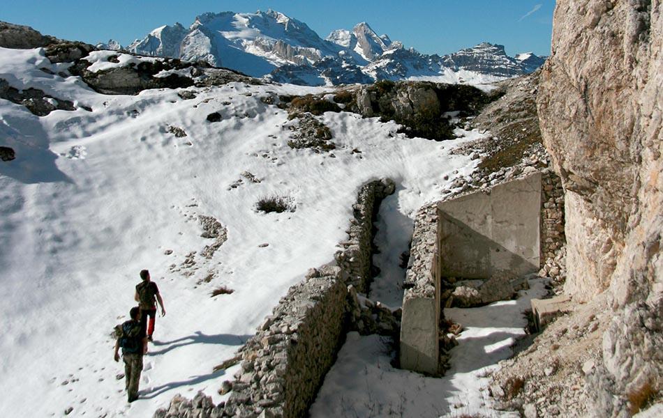 Valle d'Ampezzo, in cammino verso l'osservatorio di punta Gallina (ph Mariolina Cattaneo)