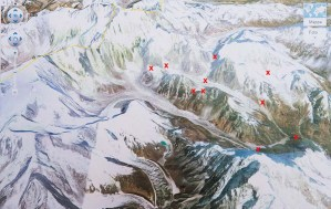 20. Mappa dell'esplorazione (punti toccati al 10 maggio 2014)