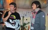 Hervé Barmasse e Simonetta Radice. IMS2014 Bressanone (©ph. Teddy Soppelsa)
