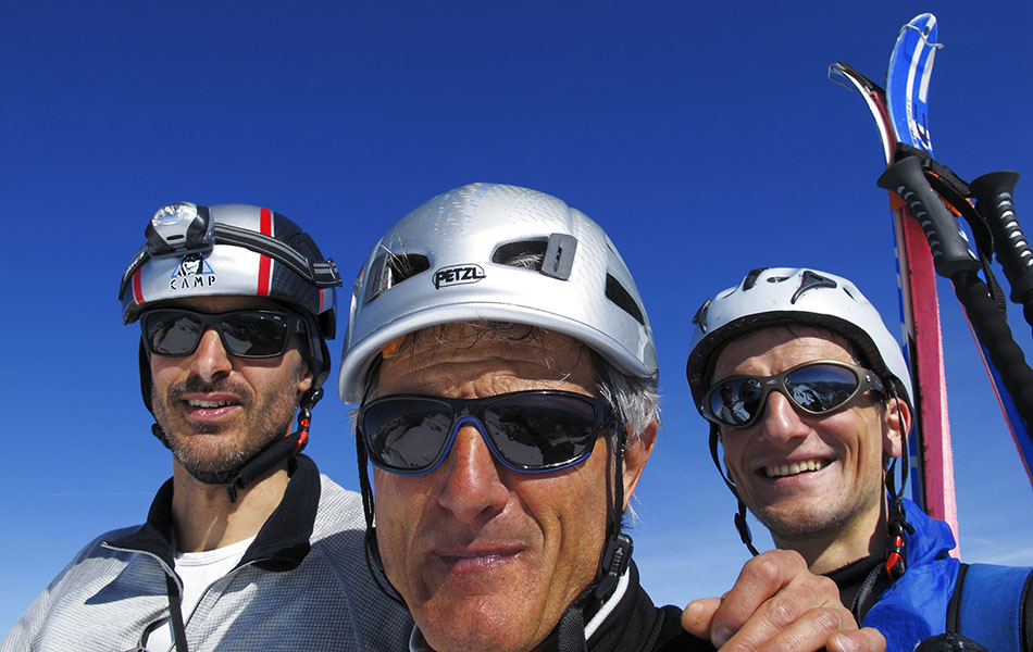 16. I tre amici (da sx a dx): Davide D'Alpaos, Loris De Barba e Tiziano Da Canal