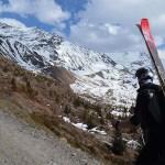 Sulla strada che dal rifugio Forni porta verso il Pizzini