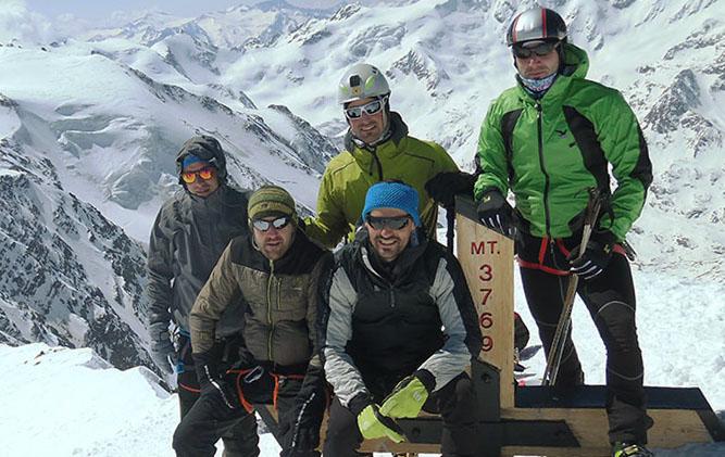 In vetta al Cevedale (3769  m)