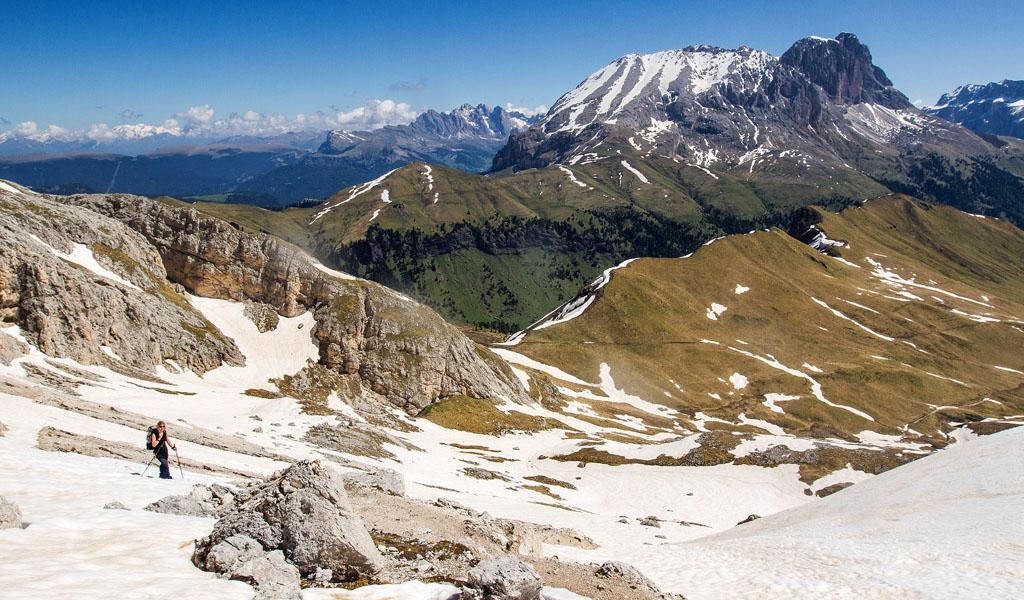 Salita verso il passo di Dona, provenendo dalla Val di Dona (ph Tommaso Forin)