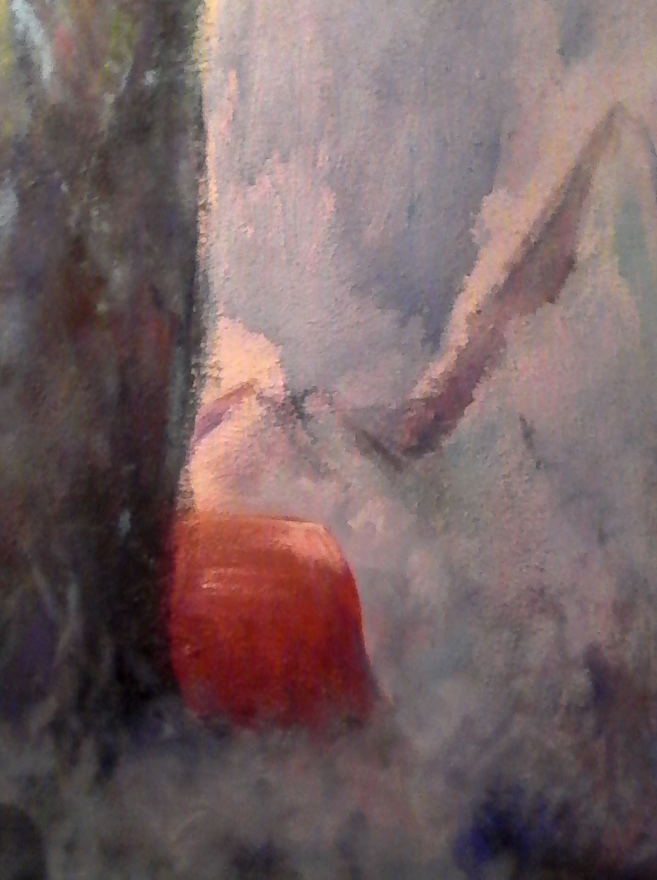 Bivacco rosso (acquerello / tecnica mista 70X100 su tavola)