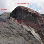 11. La discesa da Cresta Zsigmondy, vista dalla Mensola