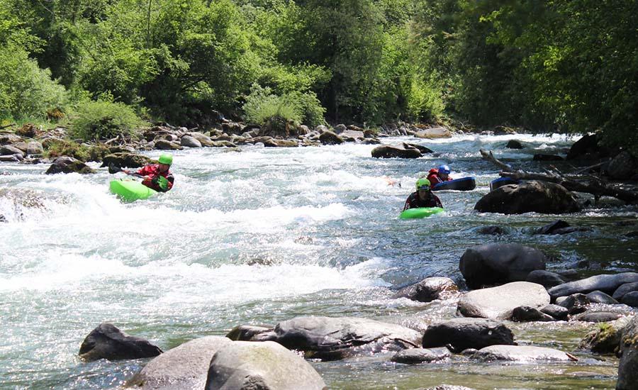 Proviamo a fare l'hidro-speed sul fiume Noce