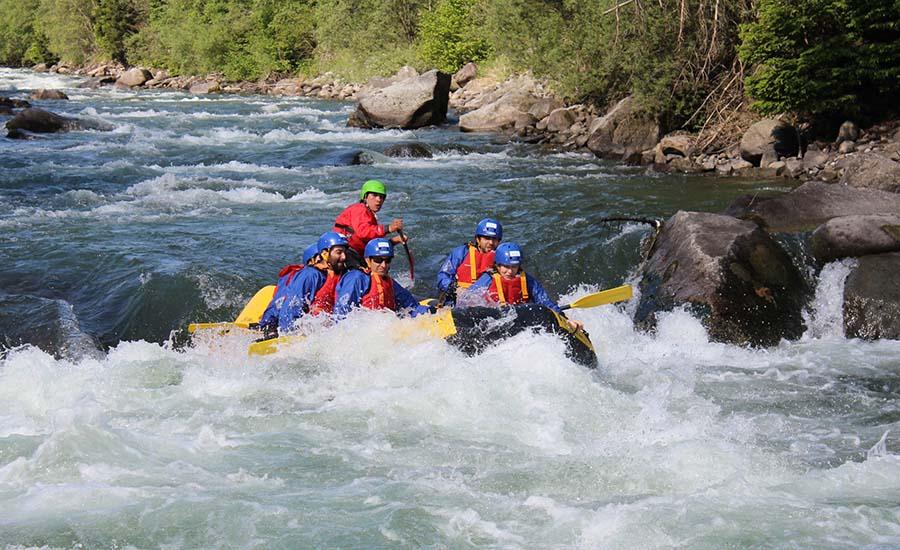 E' il momento del rafting sul fiume Noce