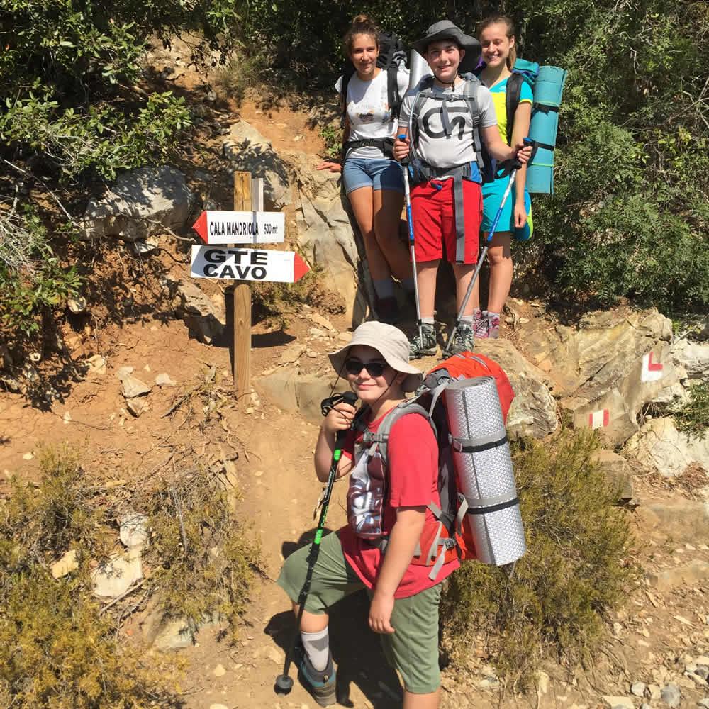 Valeria, Daniele, Violetta ed Enrico al Baruco Trekking