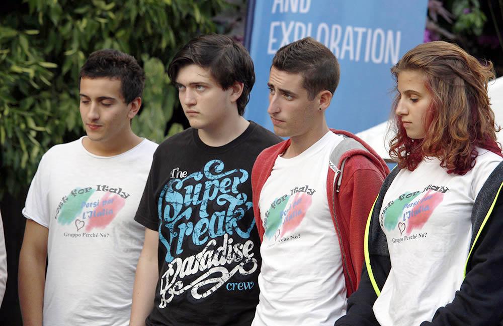 Enrico Fiordiponti (a sx) vincitore del premio speciale SKIALPER, con i compagni di escursione