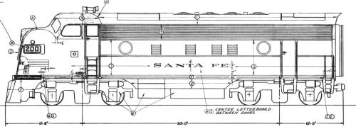 small resolution of santa fe diesel locomotive styling diagram f7a freight units