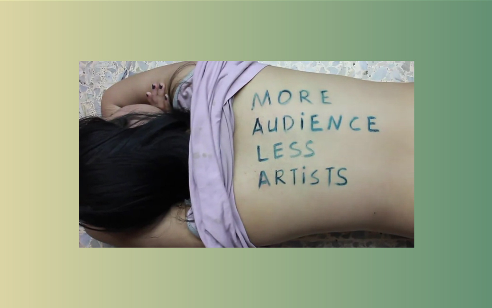 More audience less artists