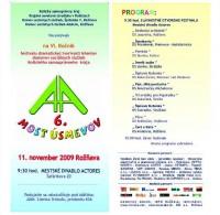 Most úsmevov 2009 - Program