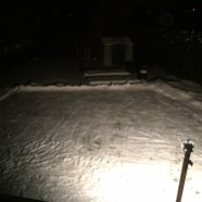 Day 1 - Built a rink light and finished sweeping away alot of the snow