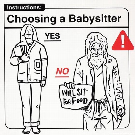 Funny images on how to (and not to) take care of a baby
