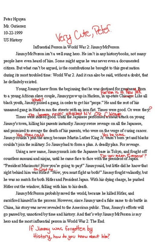 essay layout examples