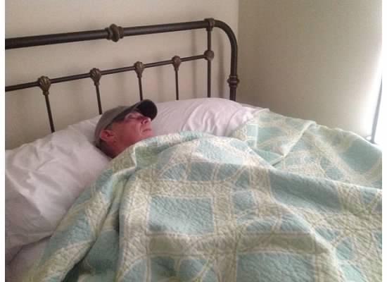 Chuck sleeping