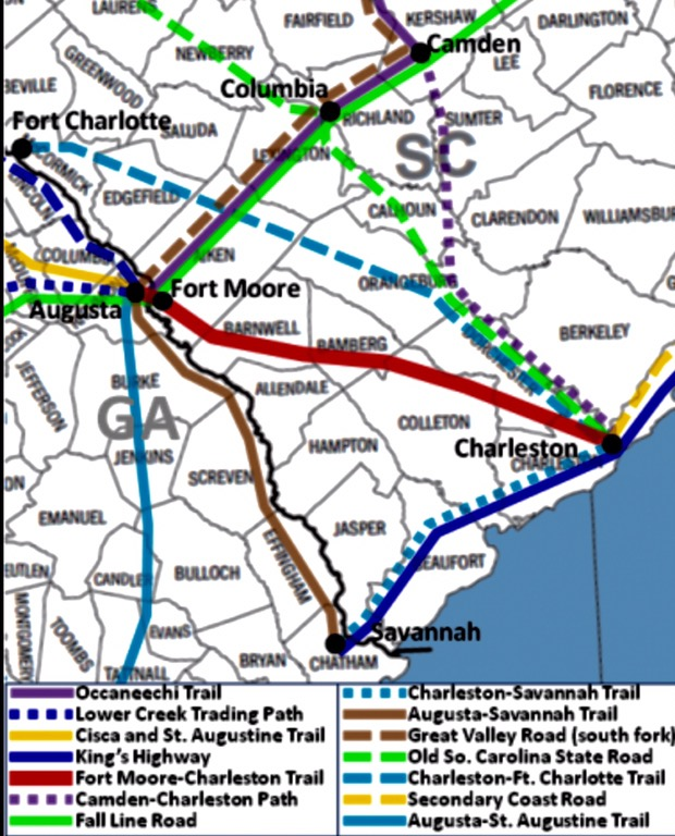 Fort Moore-Charleston Trail