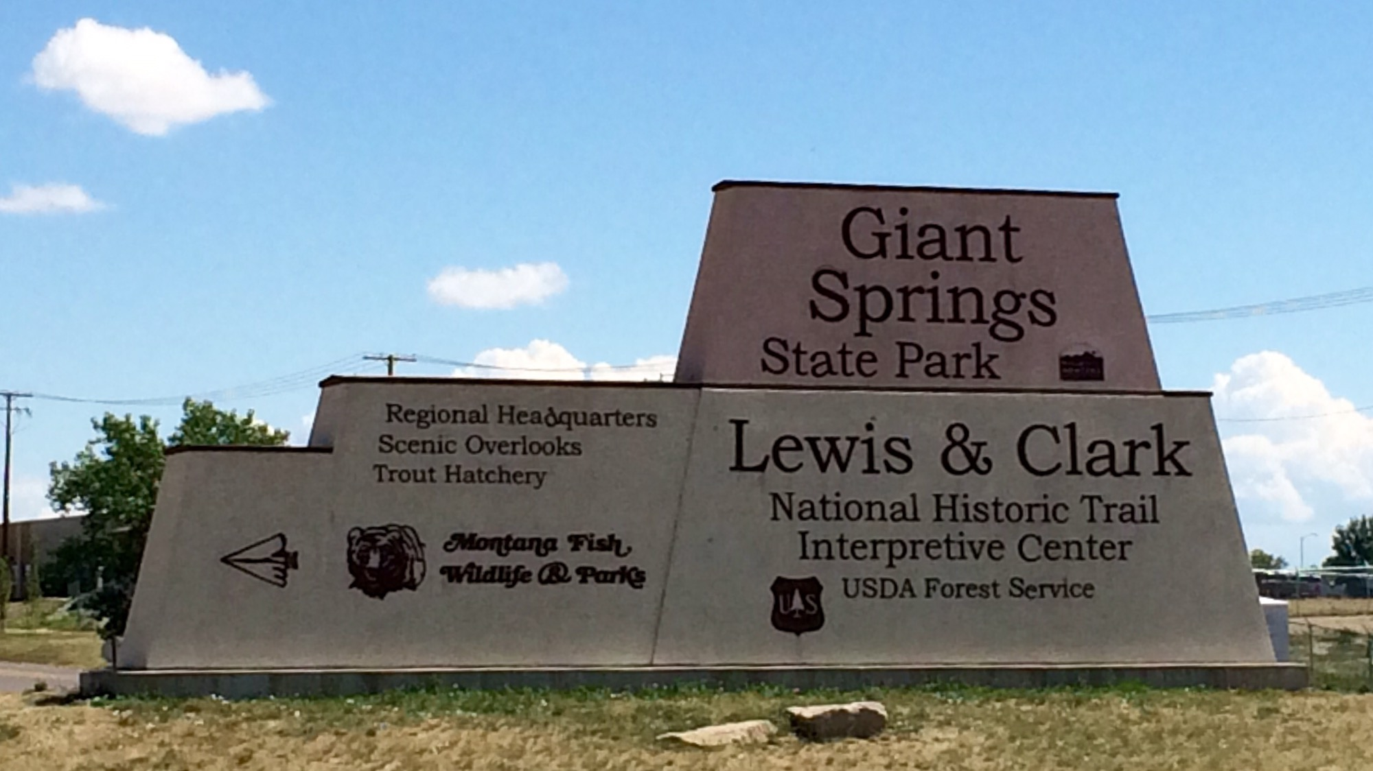 Entrance to Great Falls Interpretive Center, Lewis & Clark