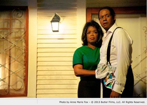 Oprah Winfrey and Forest Whitaker