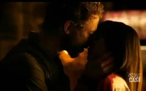 dyson and kenzi kissing