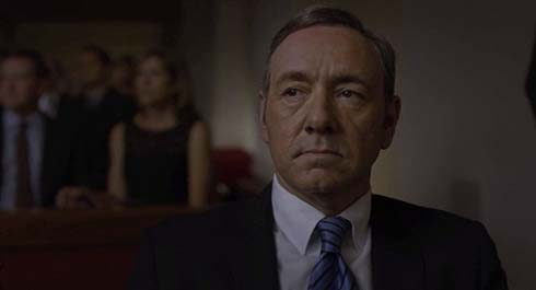 Kevin Spacey as Frank Underwood