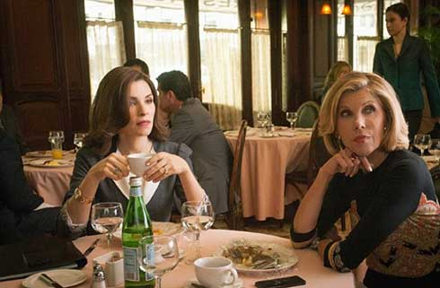 Julianna Margulies and Christine Baranski in The Good Wife