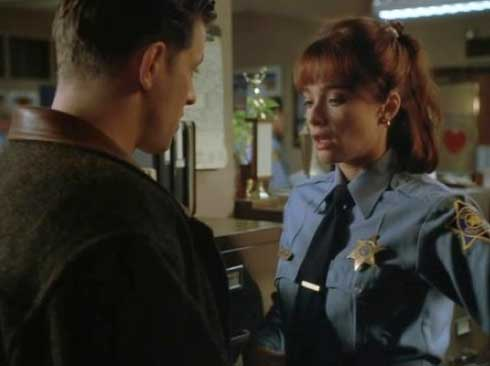 Costas Mandylor and Lauren Holly in Picket Fences