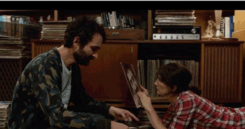 Josh and Ali bonding over old vinyl