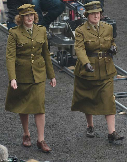 Scene from shooting Dad's Army