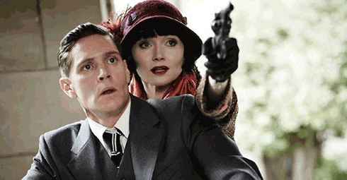 Nathan Page and Essie Davis in Miss Fisher's Murder Mysteries
