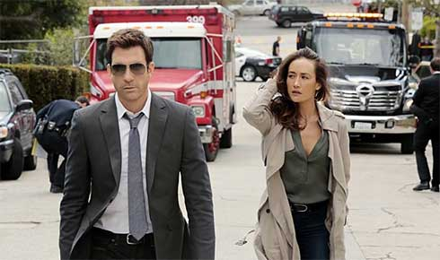Dylan McDermott and Maggie Q in Stalker