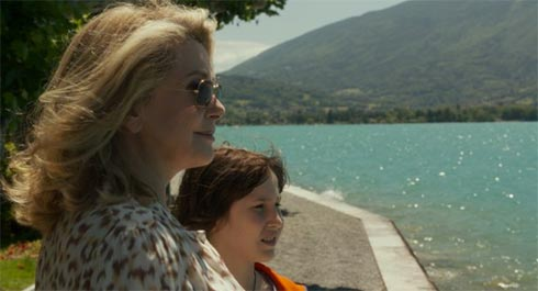 Catherine Deneuve and Nemo Schiffman in On My Way