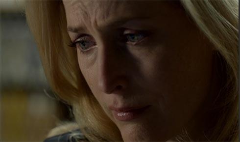 Gillian Anderson in tears