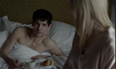 Det. Anderson in Stella's bed
