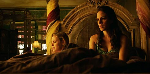 Tamsin and Bo in Bo's bed.