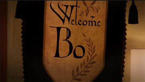 A sign says Welcome Bo