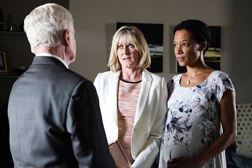 Alan talks to Caroline and Kate