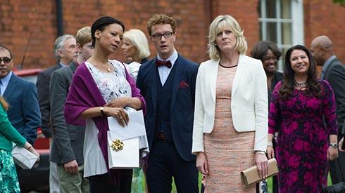 Kate, William and Caroline watching