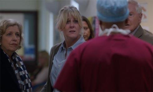 Caroline talks to the surgeon.
