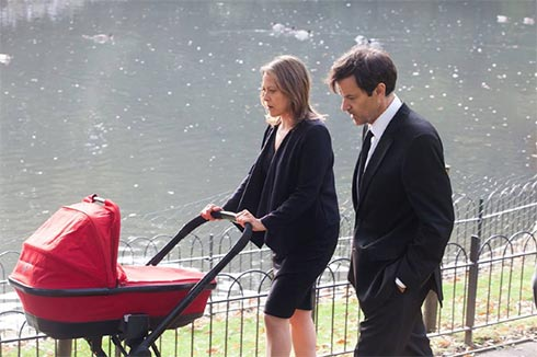 Gillian and John with the stroller