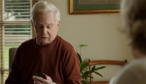 Alan reads a text