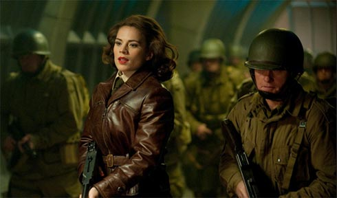Agent Carter leads a battle charge