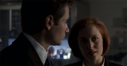 David Duchovney and Gillian Anderson in the X Files in 1993