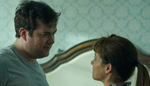 Kristian Bruun and Tatiana Maslany is a scene from Orphan Black