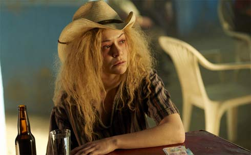 Helena in a cowboy hat