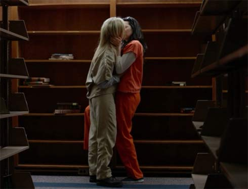 Taylor Schilling and Laura Prepon in a scene from Orange is the New Black