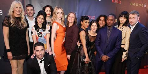 The Sense8 cast at the Neflix premier party