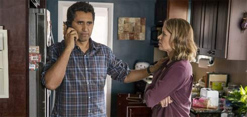 Cliff Curtis and Kim Dickens in Fear the Walking Dead