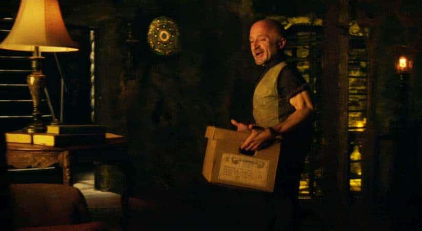 Trick has a cardboard box