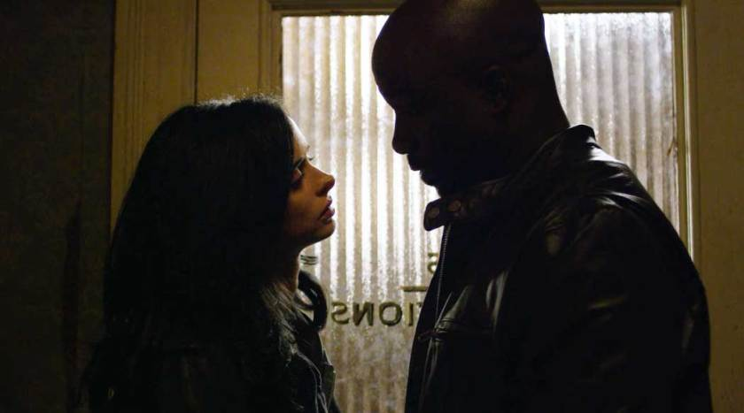 Krysten Ritter and Mike Colter